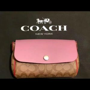 Coach small cross body bag reversible